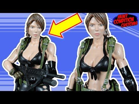 HUMMING INTENSIFIES!!! Quiet Metal Gear Solid 5 Custom Action Figure - Mint Condition Customs