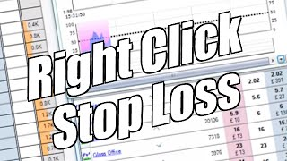 Using Bet Angel - Ladder screen - Right click stop loss