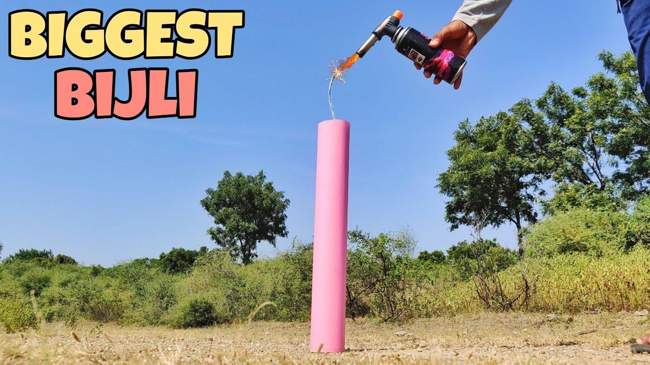 We Made Biggest Bijli Cracker - सबसे बड़ा बिजली - Diwali Experiment