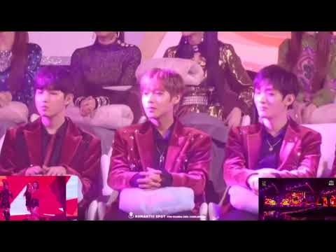 180110 Wanna One Reaction to Red Velvet Rookie & Red Flavor at GDA 2018