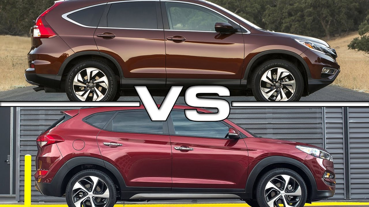 honda cr v vs hyundai tucson   youtube