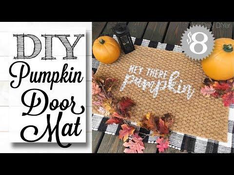 DIY Fall Decor | PUMPKIN DOOR MAT