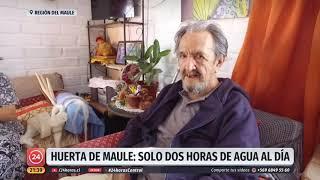 La localidad de Huerta de Maule cuenta con solo dos horas diarias de agua potable