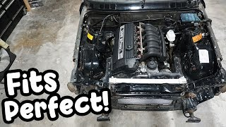 Dropping an E36 engine into an E30!!