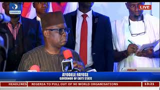 Gov. Fayose Declares Ambition To Run For President Come 2019 Pt.1