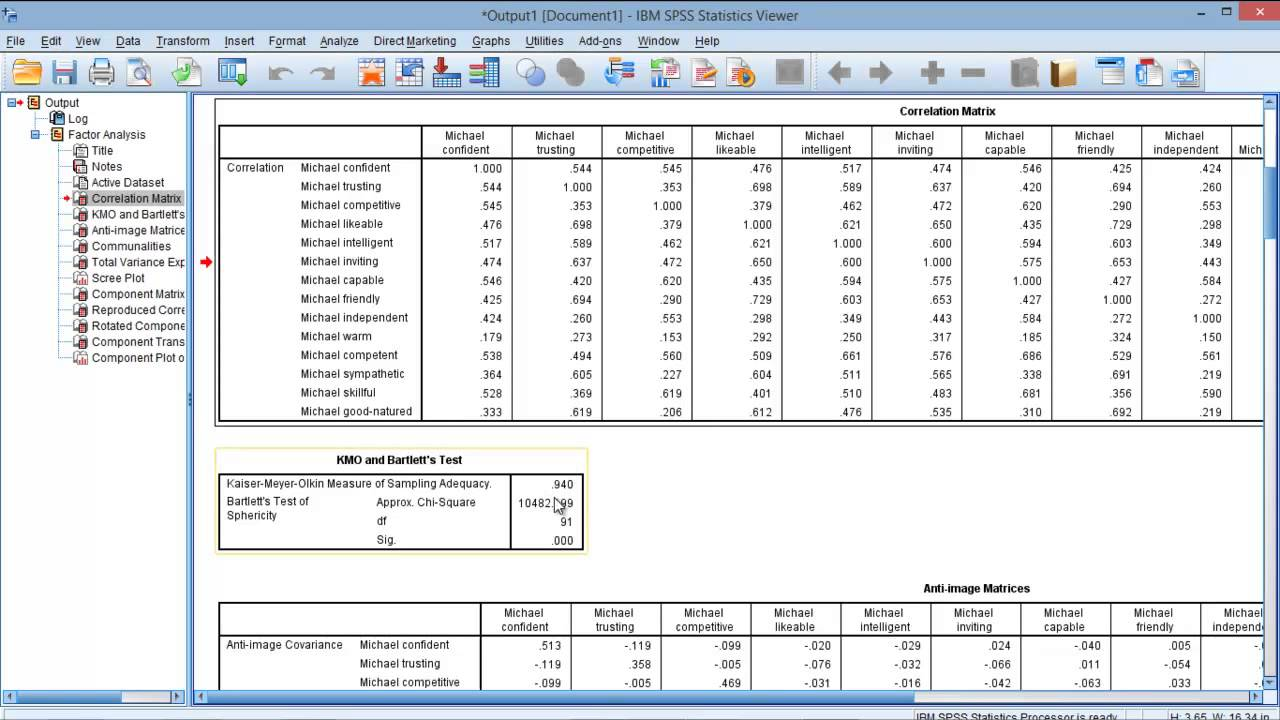 how to do pca in spss