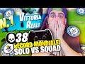 RECORD MONDIALE! 38 KILL Solo vs Squad CONSOLE PLAYER ITALIANO! Fortnite ITA!