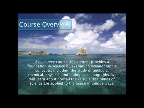 Welcome to Oceanography 100 Online
