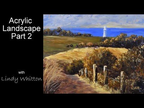 Acrylic Landscape Tutorial – Part 2