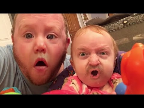 Man and his family take turns swapping faces