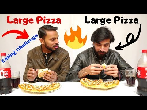 Large Pizza Eating Challenge 😱@Boss of Challenges Vs @Crazy Food Challenges