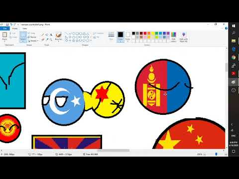 Cách vẽ country balls bằng ứng dụng Paint trong Windows 10 (Drawing Country Balls by Paint App)
