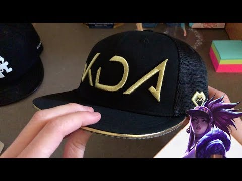 Kda Official Hat Riot Games Merch Unboxing Akali Youtube
