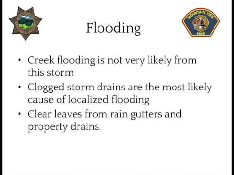Mountain View Police and Fire Storm Information - Flooding