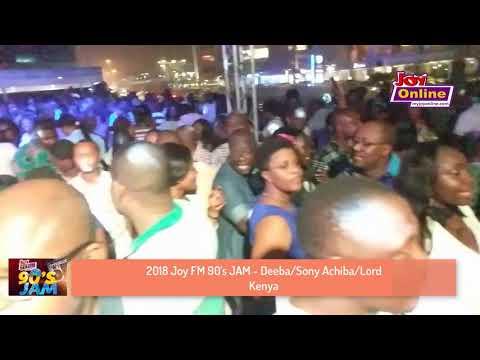 2018 Joy FM 90's JAM crowd sing to Deeba/ Sony Achiba/Lord Kenya