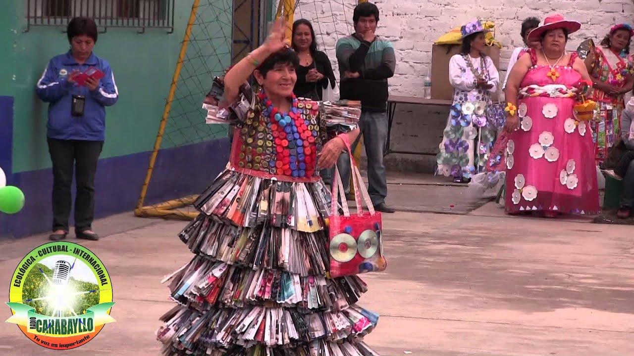 Concurso de Trajes Típicos con material reciclado , Carabayllo 2015 2016,12,