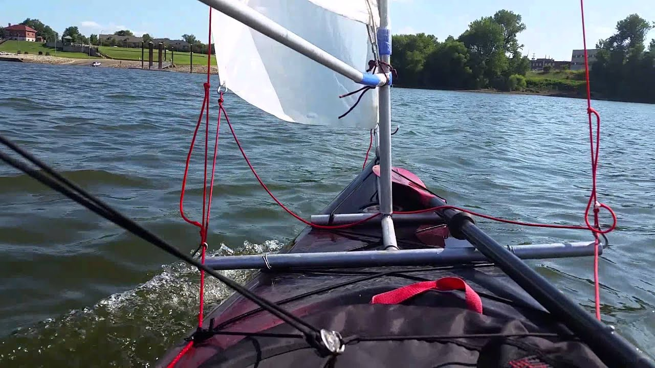 Kayak homemade sail rig