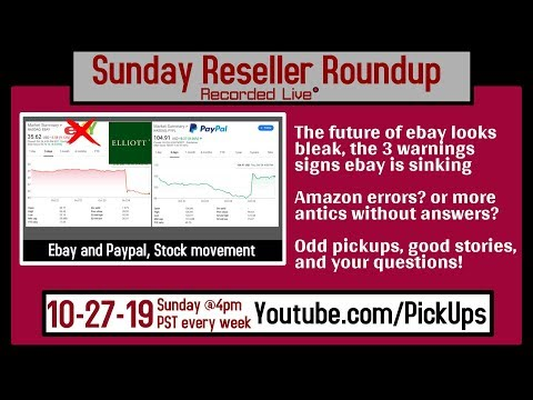 Reseller Roundup 10-27-19 Ebay Q3 Shareholder call | Amazon Sues 2 Sales Coaches | #TeamTrees