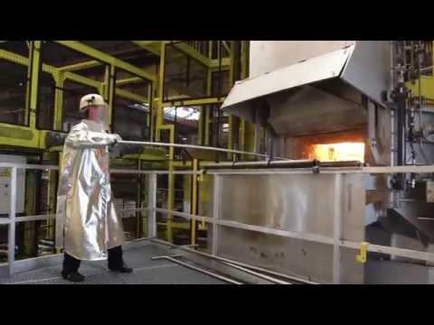 Visite de l'usine PSA de Mulhouse : la fonderie