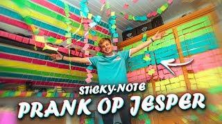 STICKY-NOTE PRANK OP JESPER !