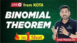 Binomial theorem in 1 shot | Class 11 | IIT JEE  | ATP STAR | IIT JEE Math | Amit Mahal Sir