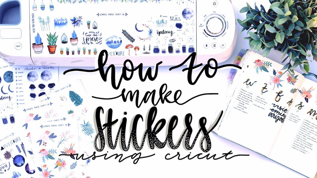 How i make my stickers using cricut and procreate 💕