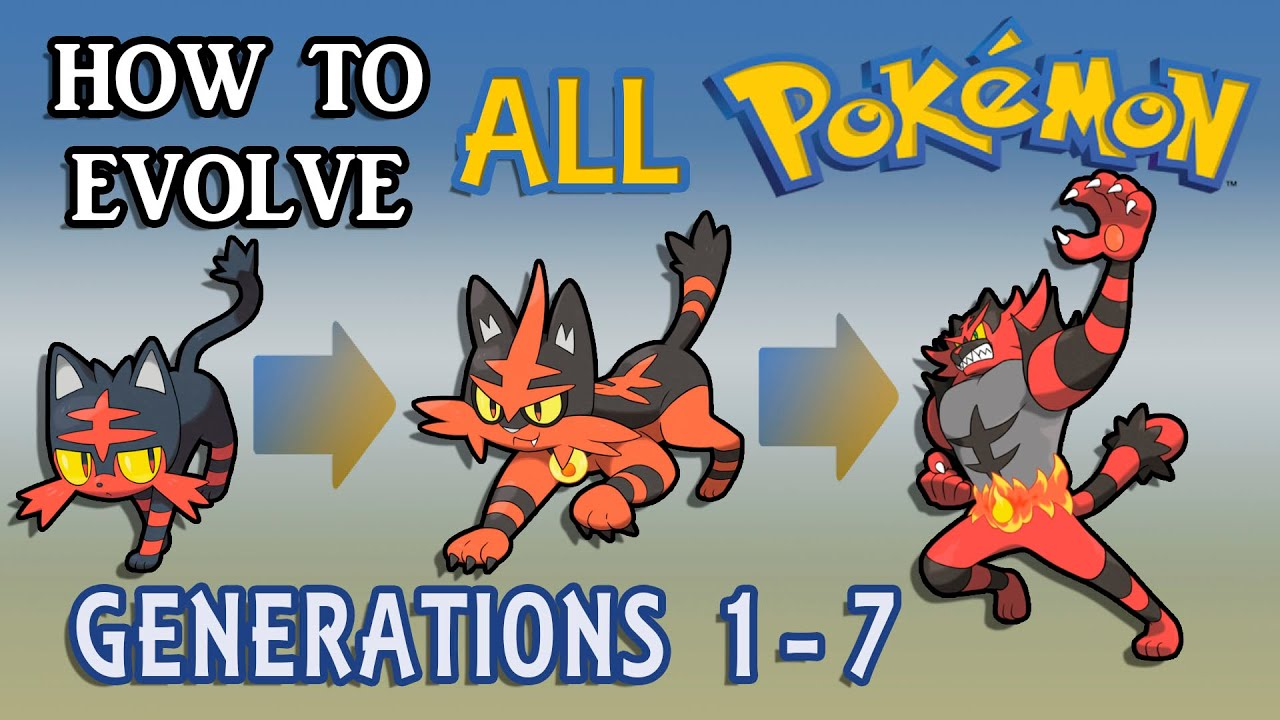also how to evolve all pokemon generations youtube rh