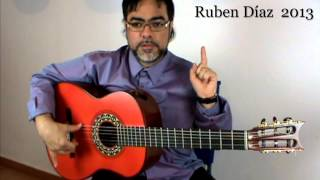Alzapua technique 1 / Andalusian Flamenco Guitar Lessons / Paco de Lucia's tech. Ruben Diaz