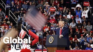 Trump responds to articles of impeachment at campaign rally | FULL