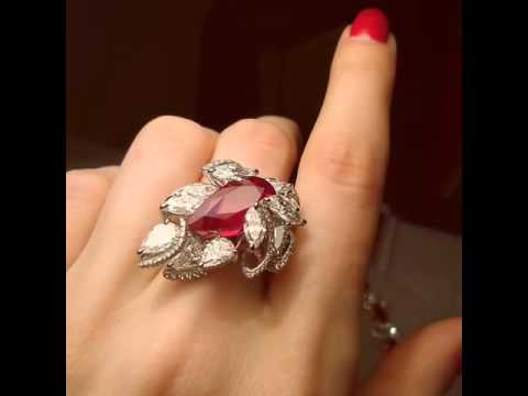 Fai Dee Burmese Ruby ring