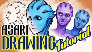 [How To] Asari MASS EFFECT Drawing Tutorial
