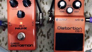NUX DISTORTION DS-3 vs Boss Distortion DS-1 pedal comparison