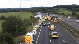 The M5 Crash between Bristol and Gloucester- 16th september 2017 - 2:30pm till 3:30pm