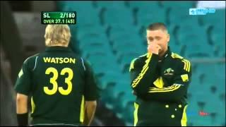 Michael Clarke v Shane Watson   Cricket Fight   YouTube