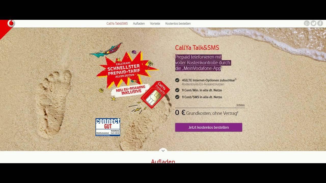 Vodafone Sim Karte Bestellen Kostenlos.Vodafone Freikarte Kostenlose Prepaid Sim Karte Gratissimo Net