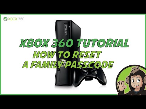 How to reset your xbox 360 family passcode