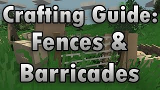 Unturned Crafting Guide: Barricades & Fences - How To Make A Wooden Shield, Wire Fence, And More