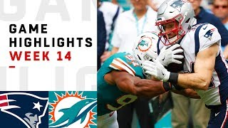 Get Screenshots for video :: Patriots vs. Dolphins Week 14 Highlights | NFL 2018