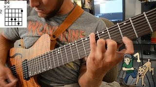 beginning 8 string guitar vol. 1 - major chord/scale shapes