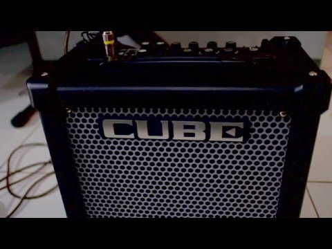 Roland Cube 20GX test on Guitar & Bass