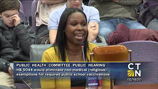 Brook Jordan Testimony on HB 5044 bill in CT to remove religious exemptions in schools