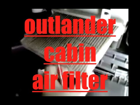How to replace cabin air filter 2010 Mitsubishi Outlander  YouTube