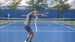 Karen Khachanov Forehand In Slow Motion