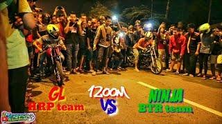 GL HRP Team VS NINJA BTR Team !! 1200m bypass krian Win GL HRP Team