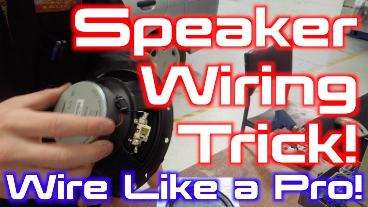 Professional Speaker Wiring Trick! - YouTube