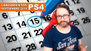 Lanzamientos Septiembre 2018 para PS4