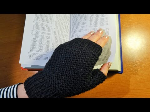 Štrikane crne rukavice (Black Knitted Gloves)