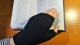 Štrikane crne rukavice (Black Knitted Gloves)