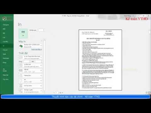 Hướng dẫn Lập Thuyết minh Báo cáo tài chính file Excel – ThangDD Vlog