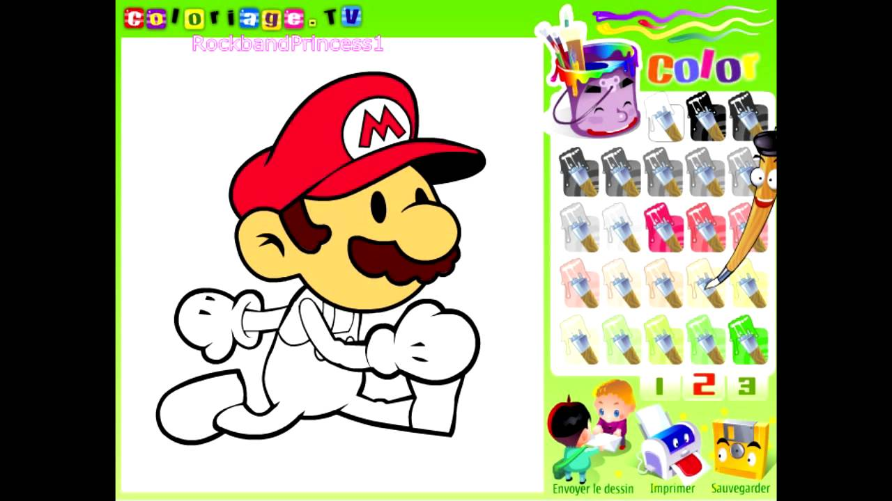 mario paint and color games online mario painting games on paint colors online id=13916